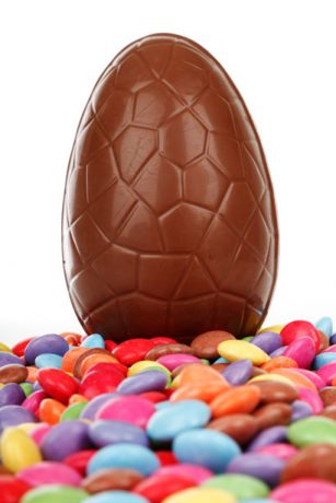 Chocolate Easter Egg. Binge Eating can be curbed with hypnotherapy for weight loss